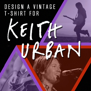 Design a Vintage T-Shirt for Keith Urban