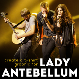 Create a T-Shirt Graphic for Lady Antebellum
