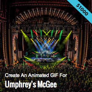 Create an Animated GIF for Umphreys McGee