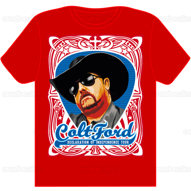Celebrate_colt_ford__a_true_music_outlaw__in_a_t-shirt_red_design_by_titosup