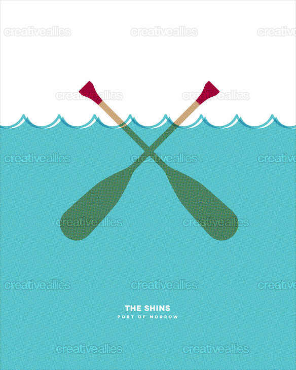 The_shins_poster_paddles_screenprint_halftone