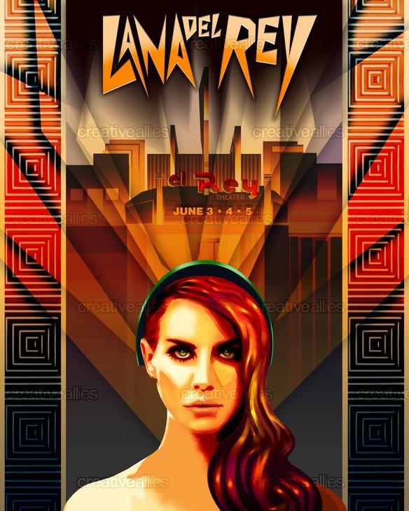 Lana del rey poster by xaguaro for Art deco lana del rey