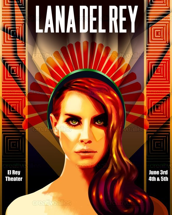 Lana del rey poster by xaguaro on for Art deco lana del rey