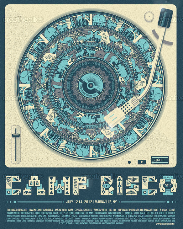 Camp Bisco Poster by Nate Harris on CreativeAllies.com