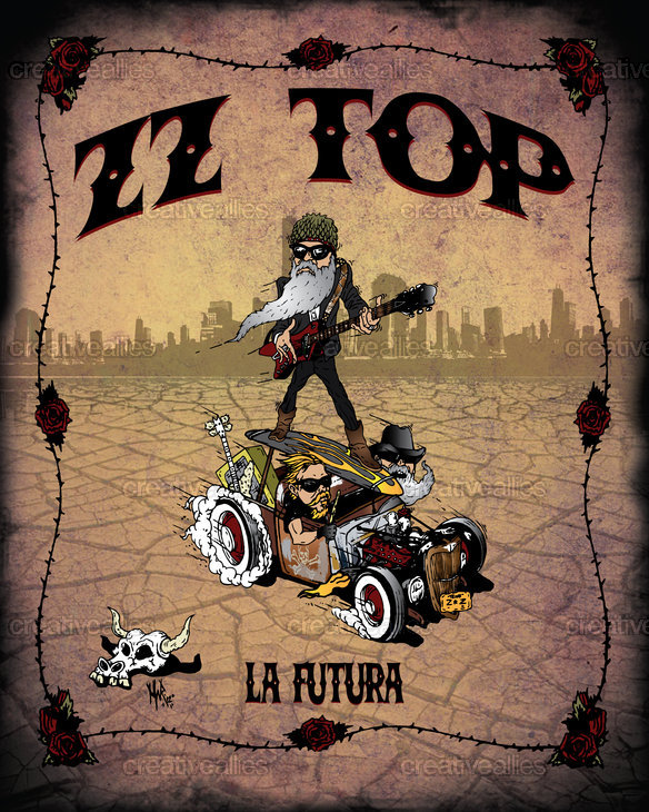 ZZ Top Poster by Mike Richardson on CreativeAllies.com