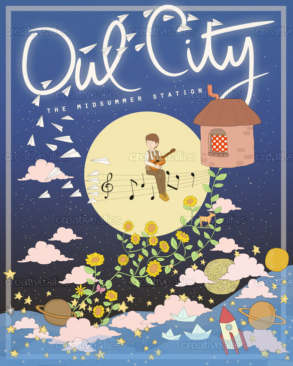 Owl City Poster by Jessica Xu on CreativeAllies.com
