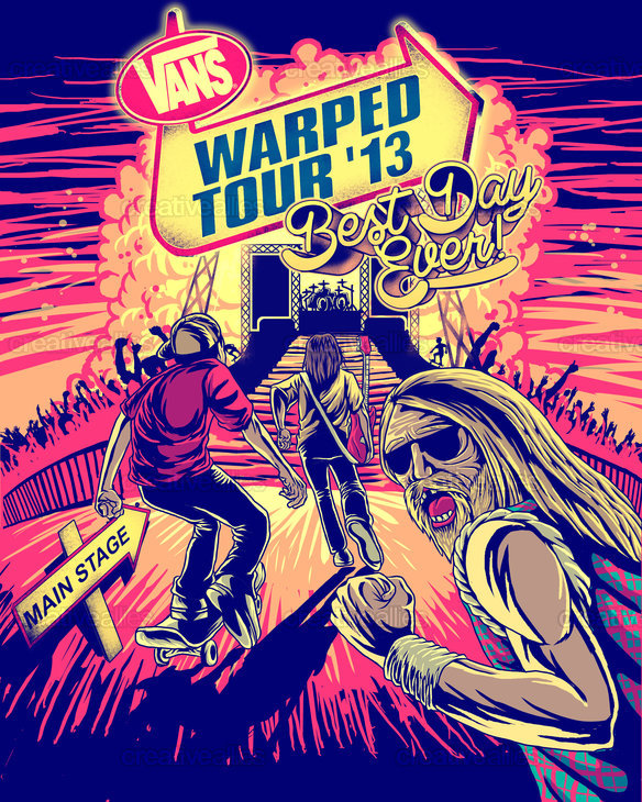 Vans Warped Tour Poster by Blood Diamond on CreativeAllies.com