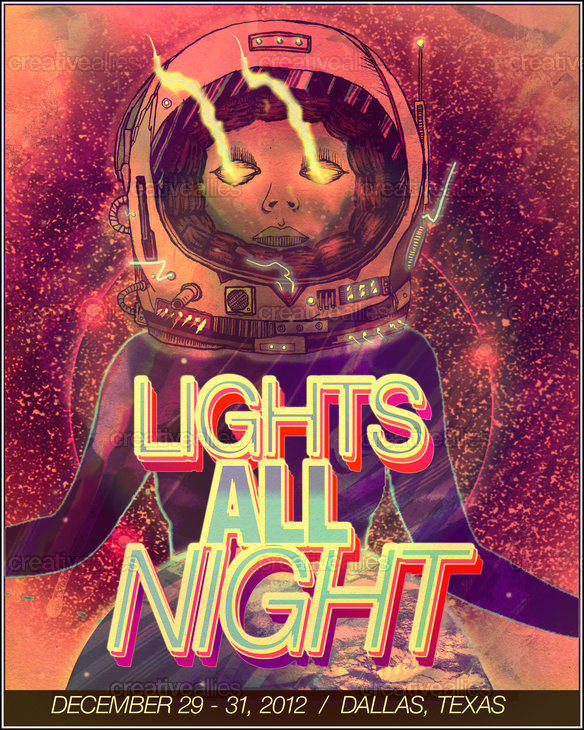 Lights All Night Poster by www.radtodeath.com on CreativeAllies.com