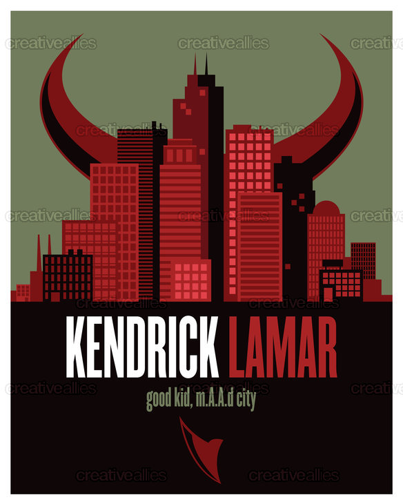 Kendrick Lamar Poster by bkocinski on CreativeAllies.com