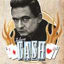 Johnny Cash Poster by Matías Gutiérrez Durán