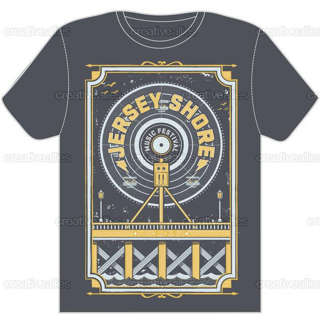 Design a t shirt for jersey shore music festival for T shirt design festival