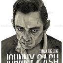 Johnny Cash Poster by Ariela