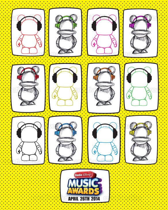 Radio Disney Music Awards Poster by March in March
