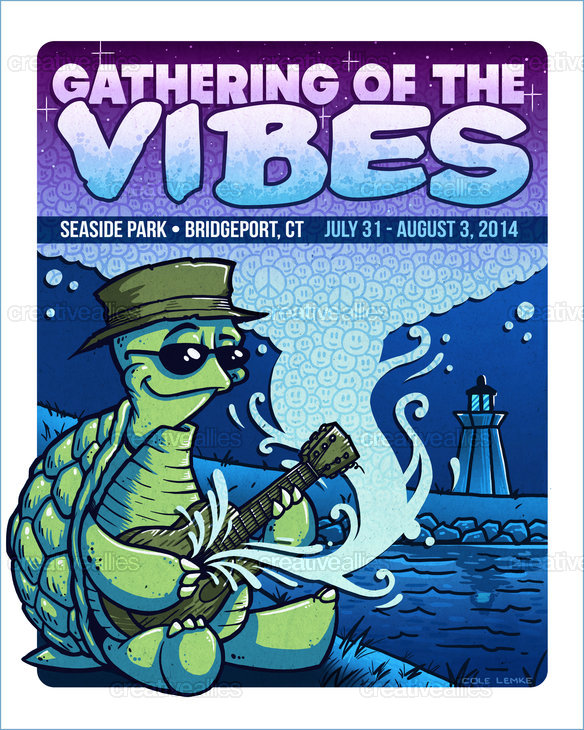 Gathering Of The Vibes Music Festival Poster by Chump Magic
