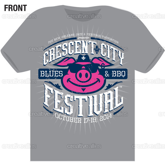 The Crescent City Blues & BBQ Festival T-Shirt by Lonnie Walker