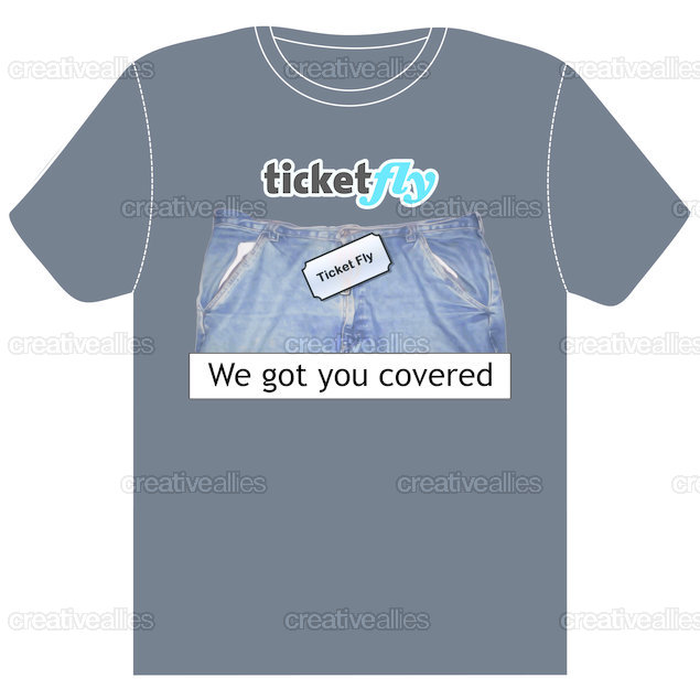 Ticketfly T-Shirt by DJ Grafx on CreativeAllies.com