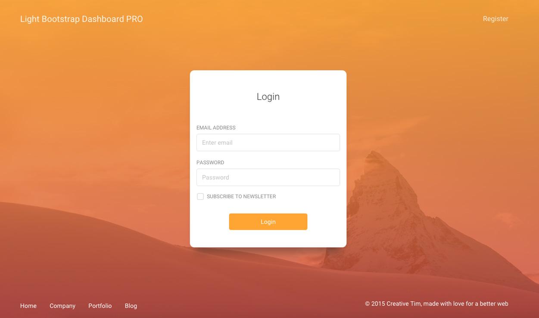 Light Bootstrap Dashboard Pro Premium Bootstrap Admin