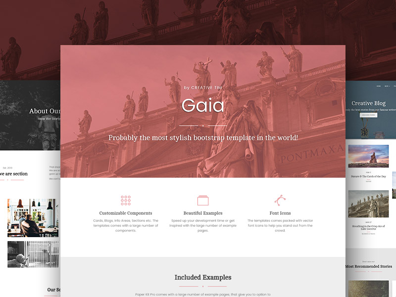 Gaia Bootstrap Template Pro Image
