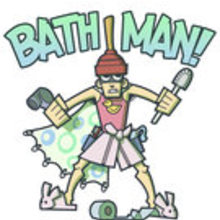 Bath man by b sidestudios