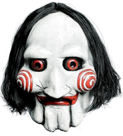 Jigsaw puppet saw lizenz film maske  movie mask