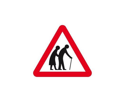 Attenzione possibile presenza di pedoni anziani sulla carreggiata1