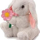 Hoppity white bunny rabbit soft toy