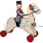 12526198 giocare a cavallo con soldato in legno