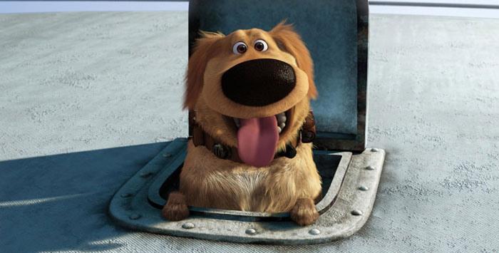 Pixar up dog dug cane 1
