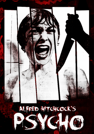 Alfred hitchcock psycho poster 1960 by teotone92 d60q1y7