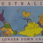 Postcard  upside down world map 4039