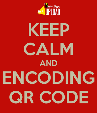 Keep calm and encoding qr code 1