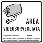 Cartello area videosorvegliata grigio