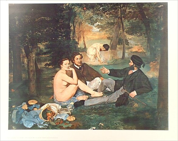 Edouard manet luncheon on the grass f