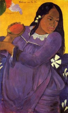 Paul gauguin woman with a mango 85262