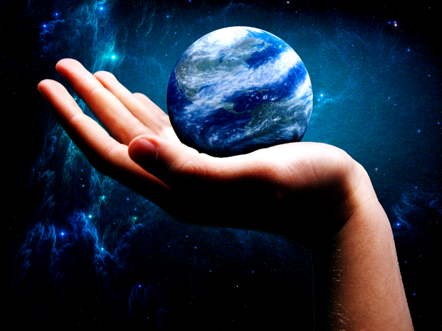 Got the whole world in my hand by jamesbensonart