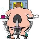Uomo nudo computer 02
