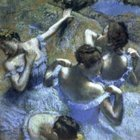 Degas blue dancers