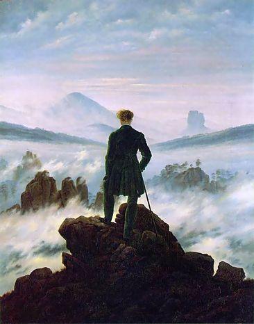 Caspar david friedrich il viandante sul mare di nebbia 1818