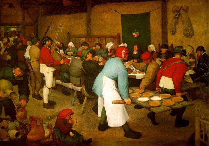Bruegel il vecchio il banchetto nuziale 1566 67