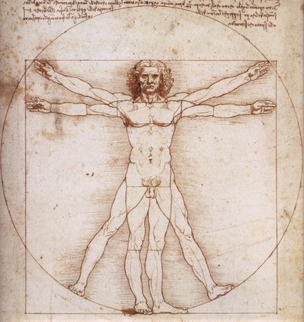 Leonardo da vinci luomo vitruviano
