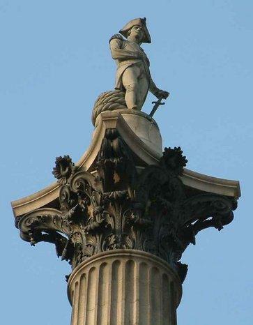 Nelsons column trafalgar square london