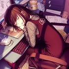 Sleep cute anime girl wallpaper bqku3