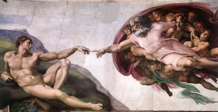 Michelangelo creazione di adamo1