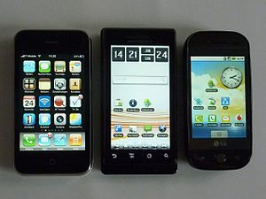 300px group of smartphones
