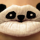 Animal lipstick art panda