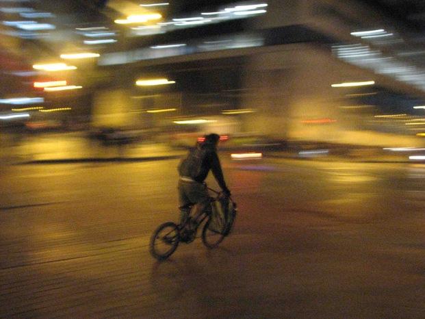 Cyclist night