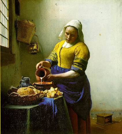 Vermeer milkmaid 2
