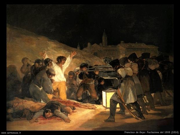 Francisco goya 001 fucilazione del 1808 1814