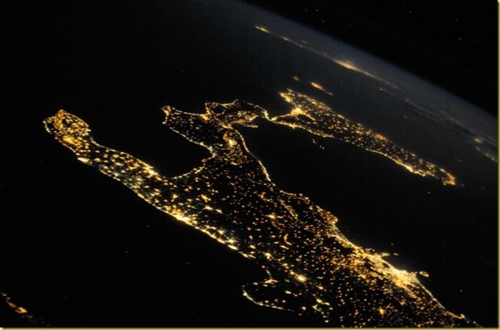 Sud italia satellite notte