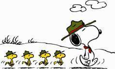 Snoopy and  boy scouts